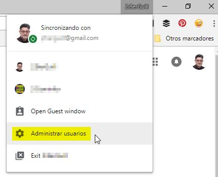 Añadir perfiles de usuario de Google Chrome