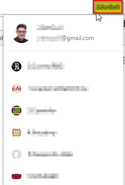 Cambiar de perfil de usuario de Chrome
