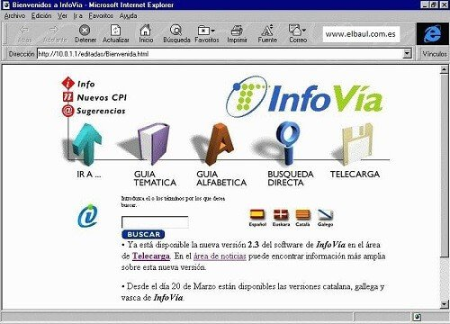 Infovía Internet en los años 90