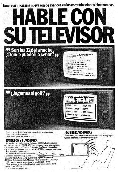 Videotex conecta televisión a Internet