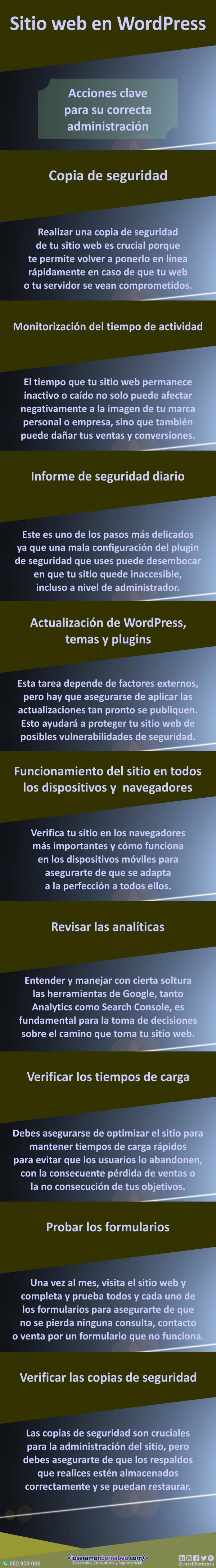 Infografía - Administrar web en WordPress