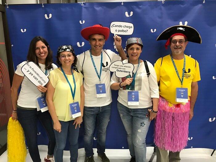 Grupo de asistentes a WordCamp Pontevedra 2019