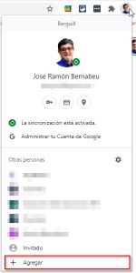 Crear perfil de usuario de Google en Chrome