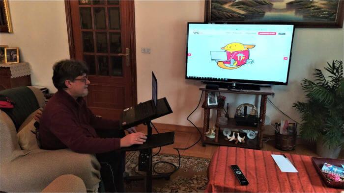Setup audiovisual WCES 2020 en casa